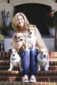 Dr. Rostan with her dogs